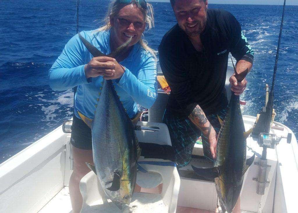 Rainbow Runner Tamarindo full day charter tuna