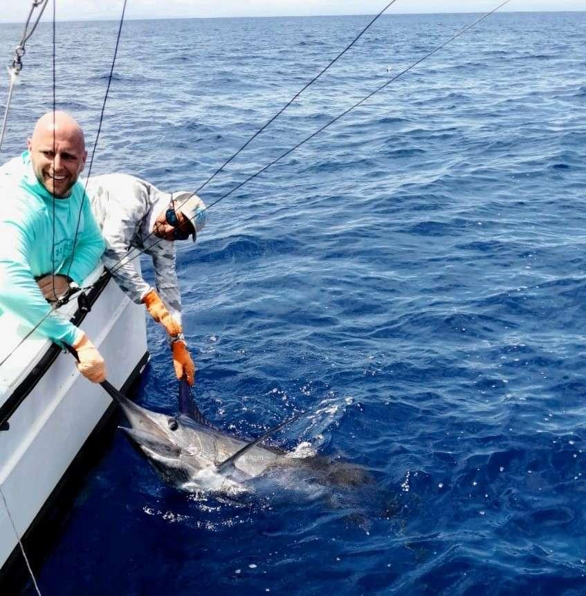 Outcast Tamarindo full day charter blue marlin