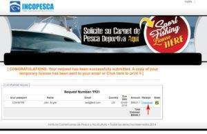 Fishing license purchase form image