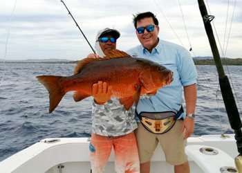 Outcast Tamarindo half day charter cubera snapper